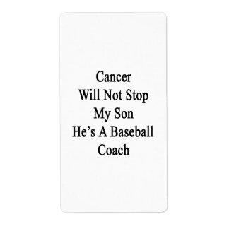 El cáncer no parará a mi hijo que él es coche de etiqueta de envío
