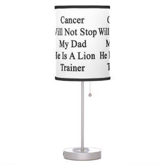 El cáncer no parará a mi papá que él es un instruc
