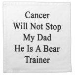 El cáncer no parará a mi papá que él es un instruc servilleta