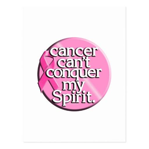 El cáncer no puede conquistar mi alcohol tarjetas postales
