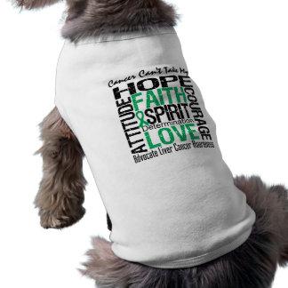 El cáncer no puede tomar a mi cáncer de hígado de  ropa perro