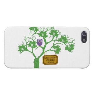 El cáncer no vive aquí búho del árbol iPhone 5 funda