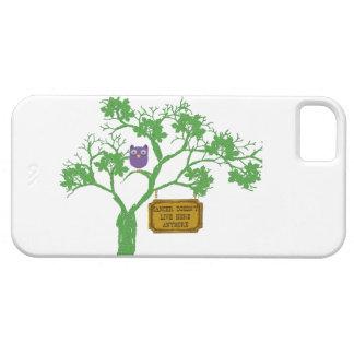 El cáncer no vive aquí búho del árbol iPhone 5 fundas