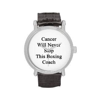 El cáncer nunca parará a este coche del boxeo relojes de pulsera