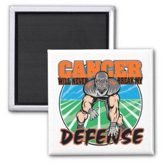 El cáncer nunca romperá mi defensa - leucemia imán cuadrado