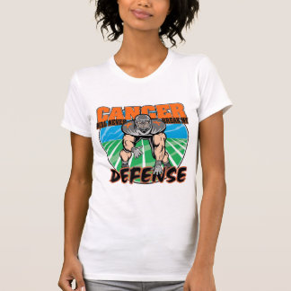 El cáncer nunca romperá mi defensa - leucemia tee shirt