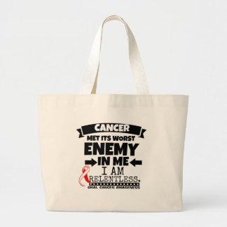 El cáncer oral hizo frente a su enemigo peor de mí bolsa tela grande