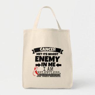 El cáncer oral hizo frente a su enemigo peor de mí bolsa tela para la compra