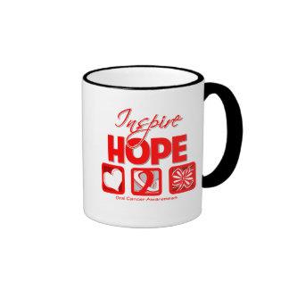 El cáncer oral inspira esperanza tazas de café