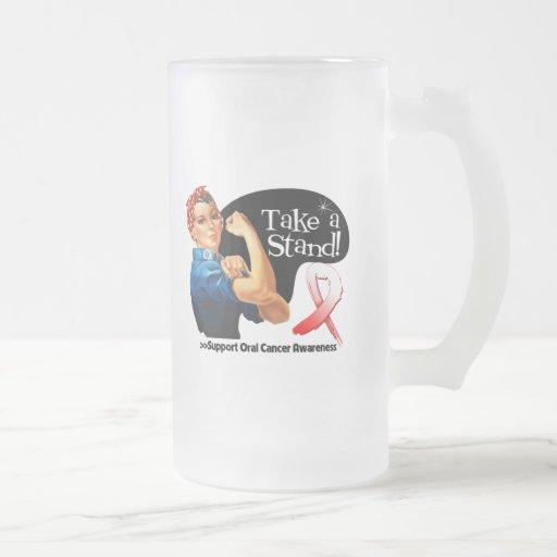 El cáncer oral toma un soporte tazas de café