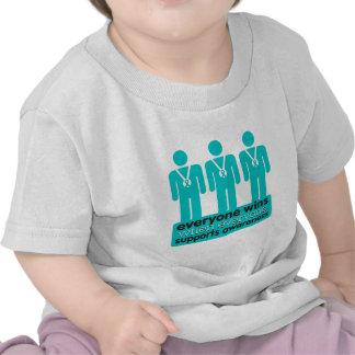 El cáncer ovárico cada uno gana con conciencia camiseta