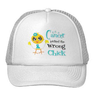 El cáncer ovárico escogió el polluelo incorrecto gorras