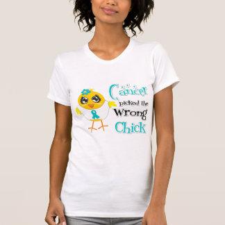 El cáncer ovárico escogió el polluelo incorrecto camiseta