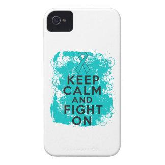 El cáncer ovárico guarda calma y sigue luchando Case-Mate iPhone 4 funda