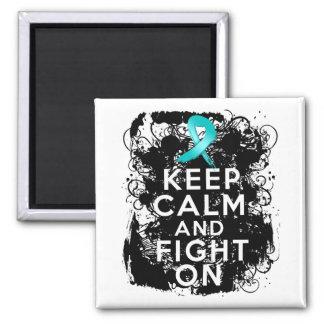 El cáncer ovárico guarda calma y sigue luchando imán cuadrado