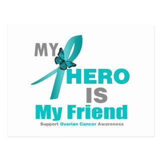 El cáncer ovárico mi héroe es mi amigo v2 tarjeta postal