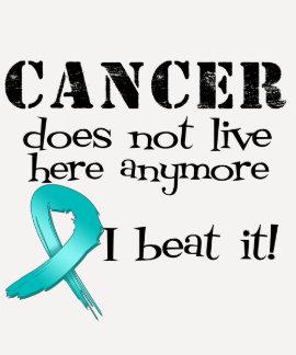 El cáncer ovárico no vive aquí más camisetas