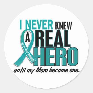 El cáncer ovárico NUNCA CONOCÍA a una mamá del Pegatina Redonda