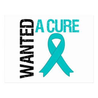 El cáncer ovárico quiso una curación tarjeta postal
