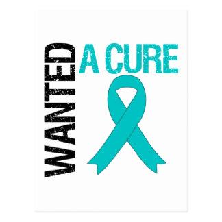 El cáncer ovárico quiso una curación tarjetas postales