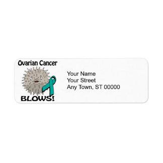 El cáncer ovárico sopla diseño de la conciencia etiqueta de remitente