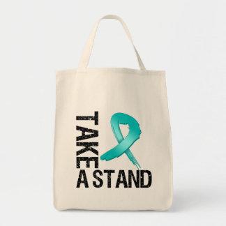 El cáncer ovárico toma un soporte bolsa de mano