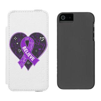 El cáncer pancreático cree el corazón de la cinta funda billetera para iPhone 5 watson