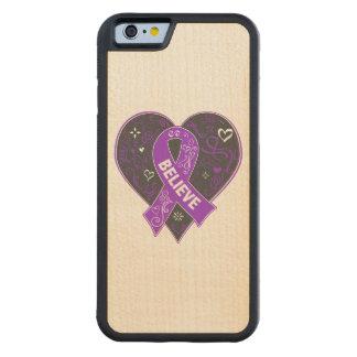 El cáncer pancreático cree el corazón de la cinta funda de iPhone 6 bumper arce