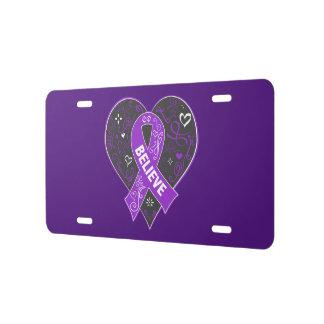 El cáncer pancreático cree el corazón de la cinta placa de matrícula