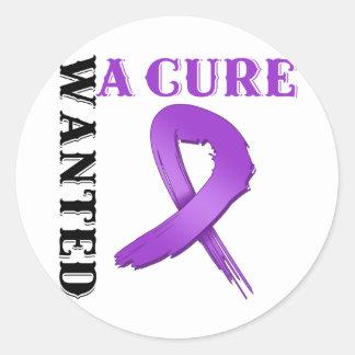 El cáncer pancreático QUISO una CURACIÓN Etiquetas Redondas