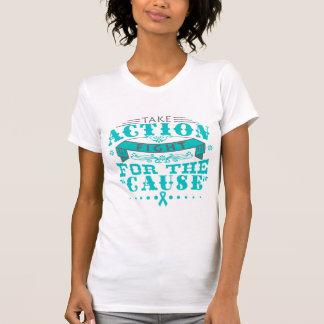El cáncer peritoneal toma la lucha de la acción pa camisetas