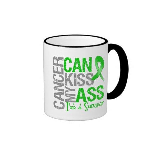 El cáncer puede besar mi asno v2 - superviviente taza de dos colores