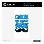 El cáncer puede besar mi Stache (la no-ropa) iPhone 4S Skins