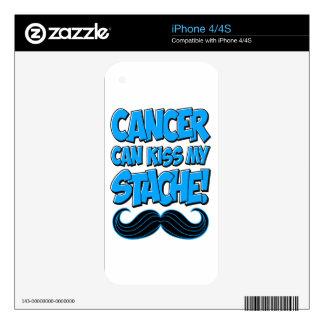 El cáncer puede besar mi Stache (la no-ropa) Skins Para eliPhone 4