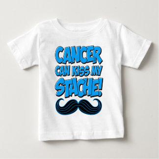 ¡El cáncer puede besar mi Stache! Remera