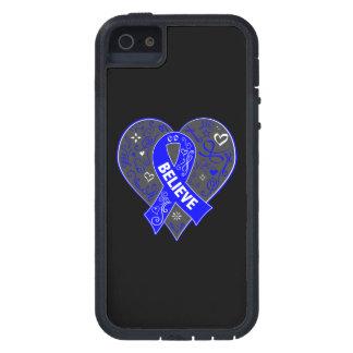 El cáncer rectal cree el corazón de la cinta iPhone 5 Case-Mate cobertura