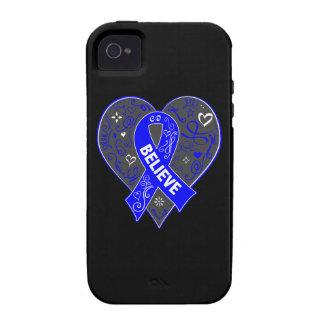 El cáncer rectal cree el corazón de la cinta Case-Mate iPhone 4 funda