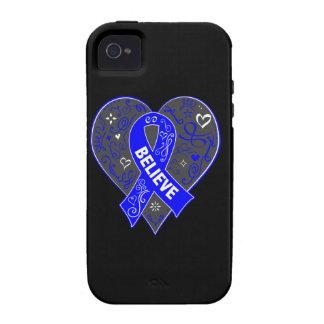 El cáncer rectal cree el corazón de la cinta vibe iPhone 4 carcasas