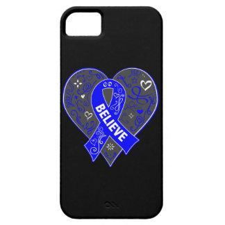 El cáncer rectal cree el corazón de la cinta iPhone 5 carcasa