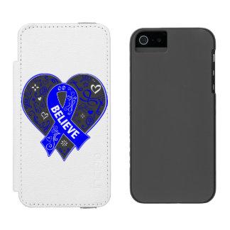 El cáncer rectal cree el corazón de la cinta funda cartera para iPhone 5 watson