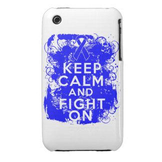 El cáncer rectal guarda calma y lucha On.png iPhone 3 Protectores