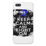 El cáncer rectal guarda calma y lucha On.png iPhone 5 Protectores