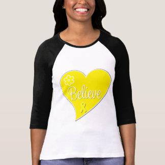 El cáncer testicular cree el corazón camisetas