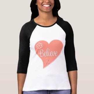 El cáncer uterino cree el corazón camisetas
