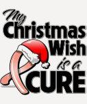 El cáncer uterino mi deseo del navidad es una cura camisetas
