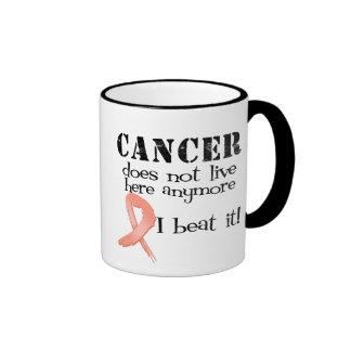 El cáncer uterino no vive aquí más taza de dos colores
