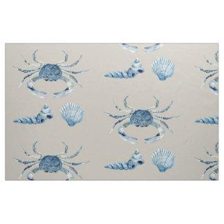 El cangrejo azul de la acuarela descasca moderno telas