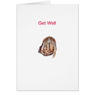 El cangrejo de ermitaño consigue bien tarjeta de felicitación