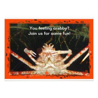 El cangrejo invita invitacion personalizada