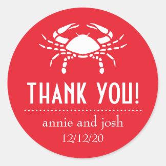 El cangrejo le agradece las etiquetas rojas